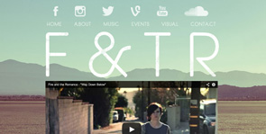 Electric Kiwi: Websites for Bands   Fire and the Romance