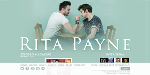 Website Design for Bands   Rita Payne