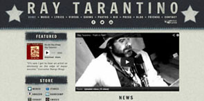 Website Design for Musicians   Ray Tarantino