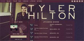 Web Design for Musicians   Music Websites   Tyler Hilton