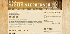 Musician Website Design   Martin Stephenson and the Daintees