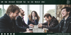 Band Web Design   Websites for Musicians by Electric Kiwi